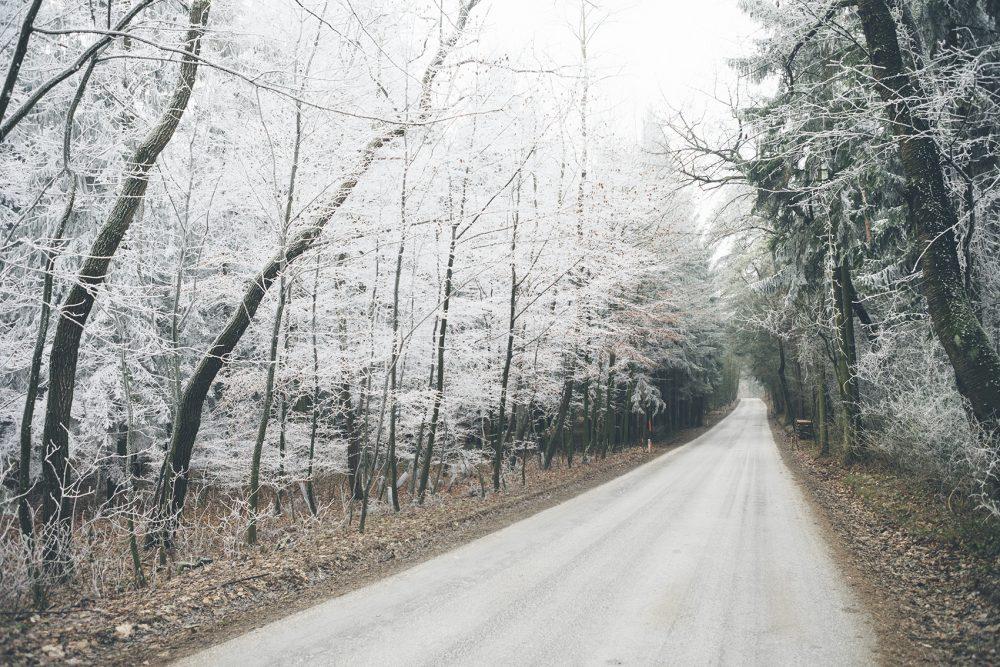 Frostige Strasse